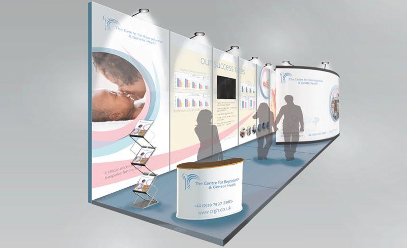 Exhibition Stand Design Graphic : Crgh exhibition stand initial design graphic design
